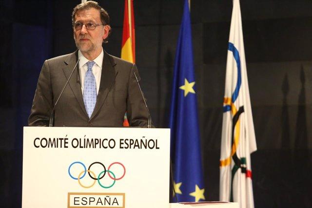 Mariano Rajoy en el COE