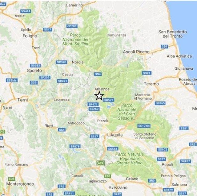 Terremoto de 3,2 en L'Aquila