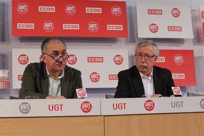 Podemos y PSOE respaldan las movilizaciones de los sindicatos que arrancan hoy