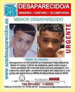 Menor desaparecido en Colmenar