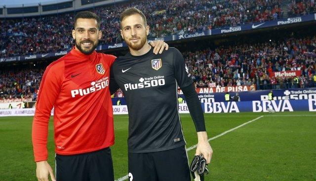 Oblak y Moya en el Atlético de Madrid - Celta