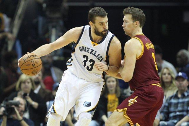 Marc Gasol en el Memphis Grizzlies - Cleveland Cavaliers