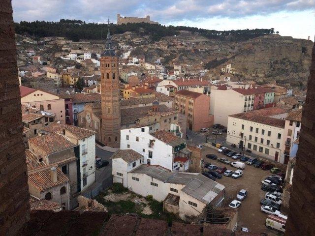 Vista de Calatayud desde la torre de Santa María