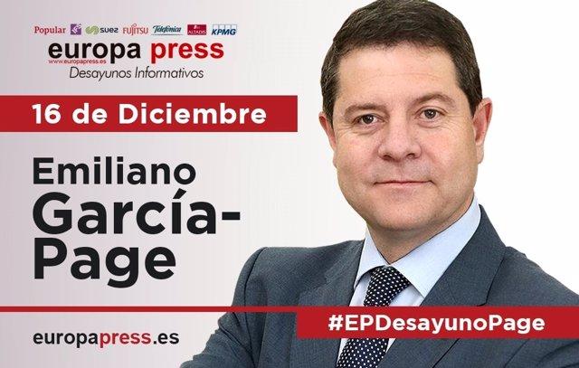 Desayuno Informativo en Europa Press con Emiliano García-Page
