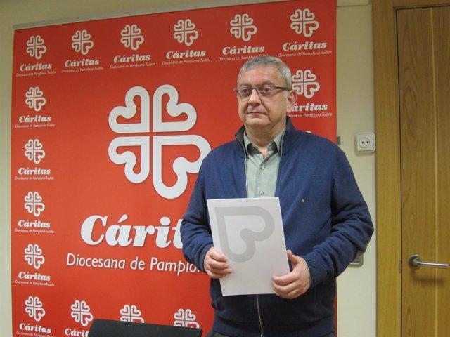 El director de Cáritas en Navarra, Ángel Iriarte