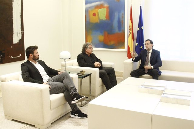 Rajoy se reúne con Gabriel Rufián y Joan Tarda