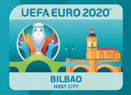 Logotipo de Bilbao para la Eurocopa 2020