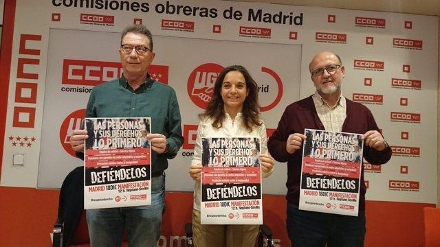 Los secretarios madrileños de PSOE, UGT y CCOO