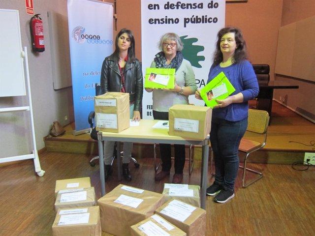 Rueda de prensa de Foanpas en Vigo.