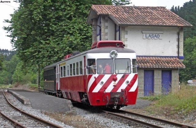 Tren en Azpeitia.