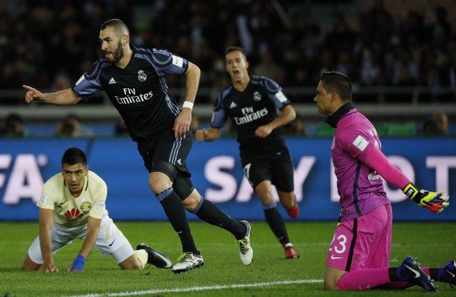 Benzema celebra el 0-1