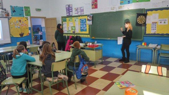 Uno de los talleres de prevención de violencia de género que imparte DPZ
