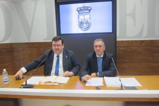 Los concejales de C's en Oviedo, Luis Pacho y Luis Zaragoza.