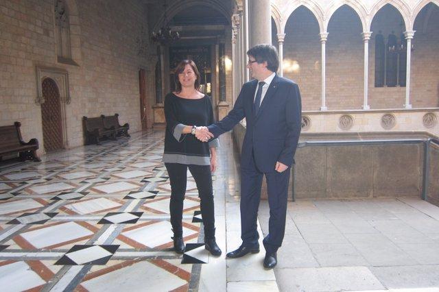 Carles Puigdemont y Francina Armengol
