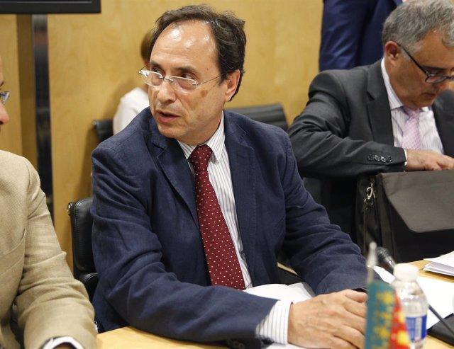 El conseller de Hacienda, Vicent Soler, en el CPFF.