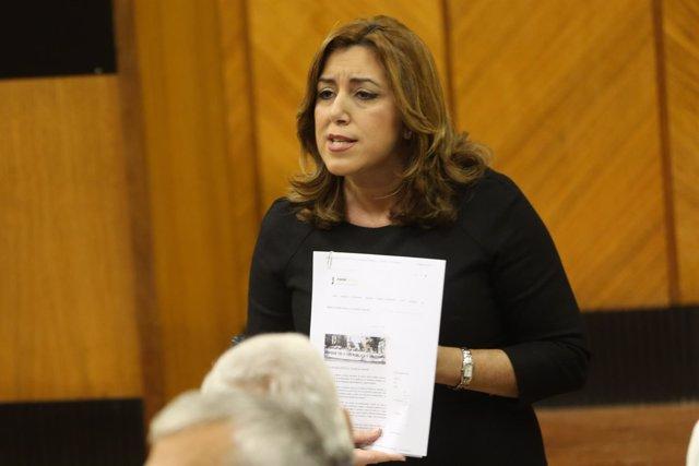 Susana Díaz debate con Juanma Moreno en el Pleno del Parlamento