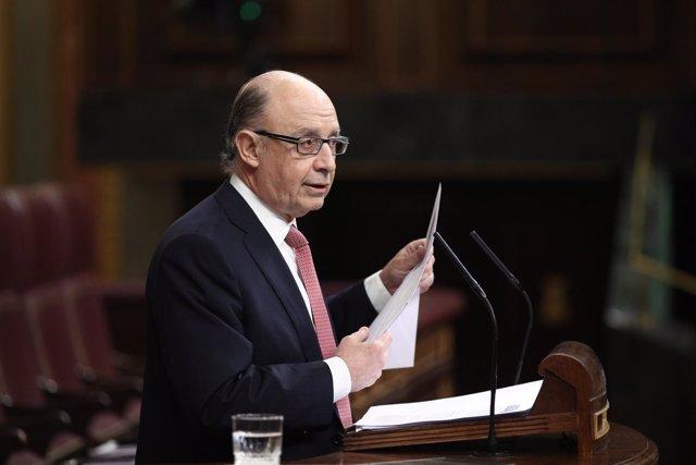 Cristóbal Montoro interviene en el Congreso