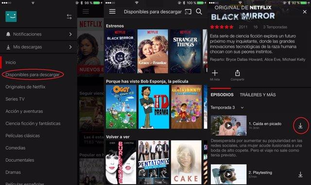 Cómo descargar, ver y eliminar series y películas en la 'app' de Netflix