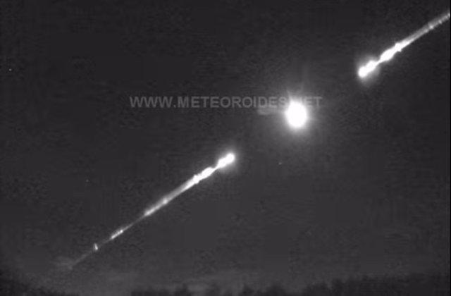Bola de fuego procedente de un asteroide en Andalucía