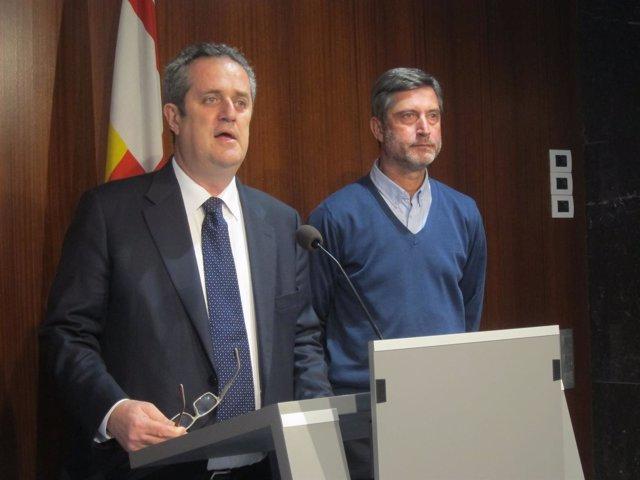 Los concejales de CiU en Barcelona Joaquim Forn y Jordi Martí