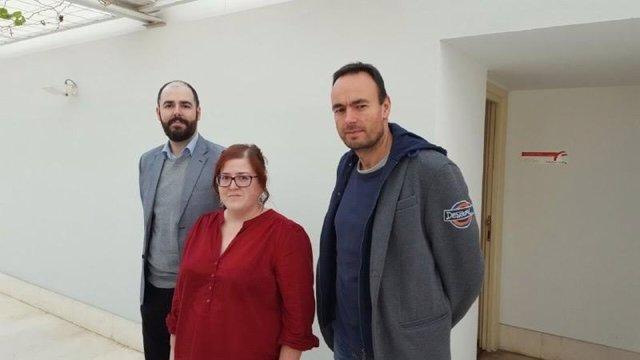 Revuelta, Ordóñez y Blanco . Podemos Cantabria