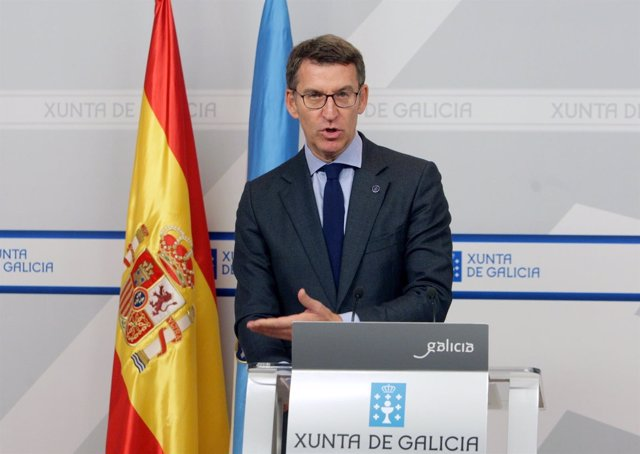 Alberto Núñez Feijóo comparece en rueda de prensa