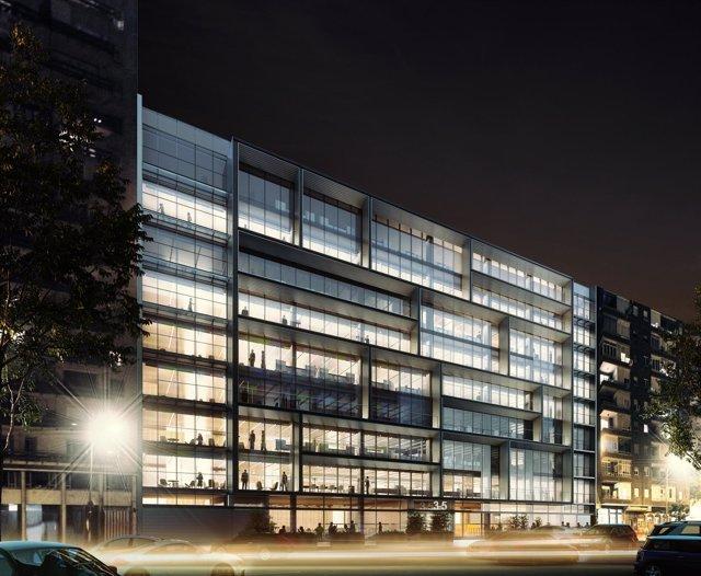 Edificio de oficinas que Colonial reconstruye en el centro de Madrid