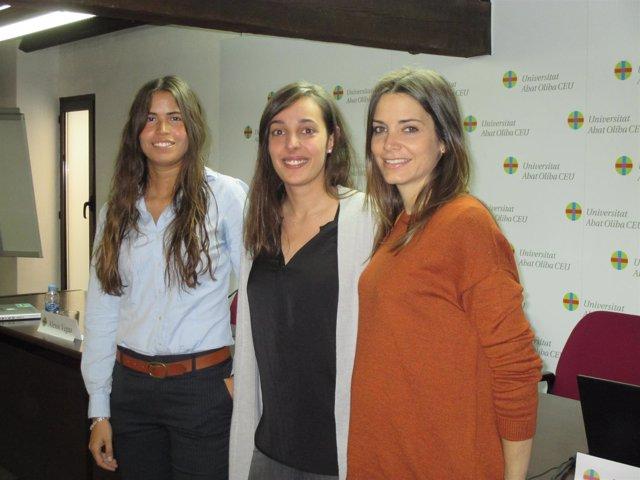 Las emprendedoras Miriam Lao; Miriam Escrivà, y Natalia Garcia