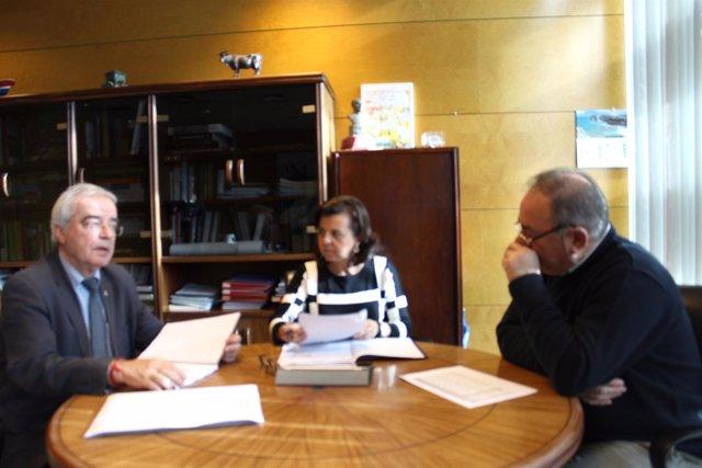 Reunión consejera Desarrollo Rural y presidente Federación Cofradías Pescadores