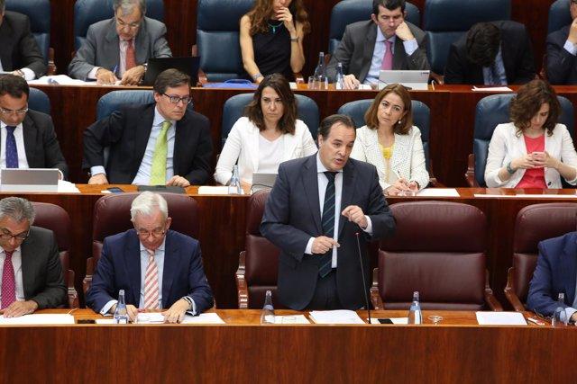Jaime Gonzalez Taboada en la Asamblea de Madrid