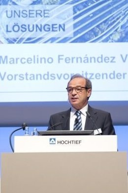 Marcelino Fernández Verdes ante la junta de Hochtief