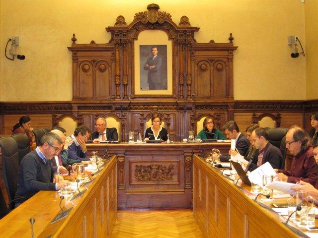 Pleno municipal de Gijón.
