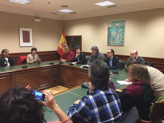 Reunión con 'Stop Uranio' en el Congreso