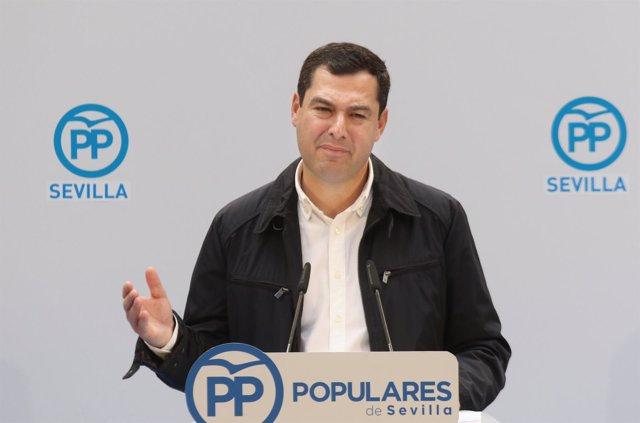 El presidente del PP-A, Juanma Moreno