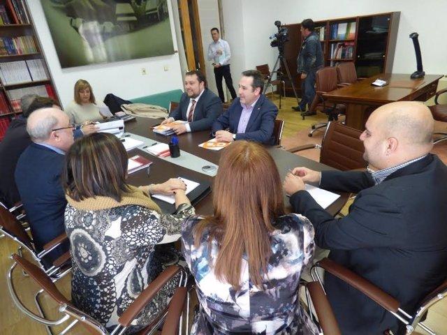 Reunión C's con PRC y PSOE y Gobierno