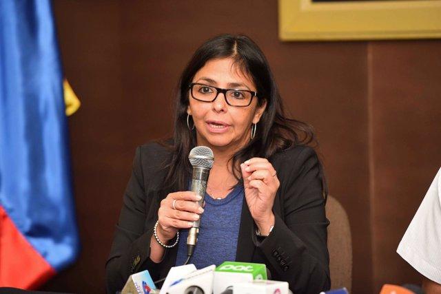 La ministra de Exteriores de Venezuela, Delcy Rodríguez