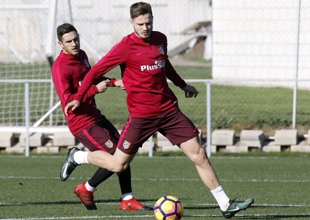 Saúl Ñíguez Koke Atlético entrenamiento