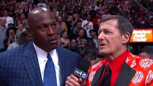 Craig Sager entrevista a Michael Jordan / NBA