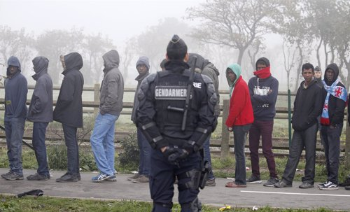 Menores no acompañados de 'La Jungla' de Calais