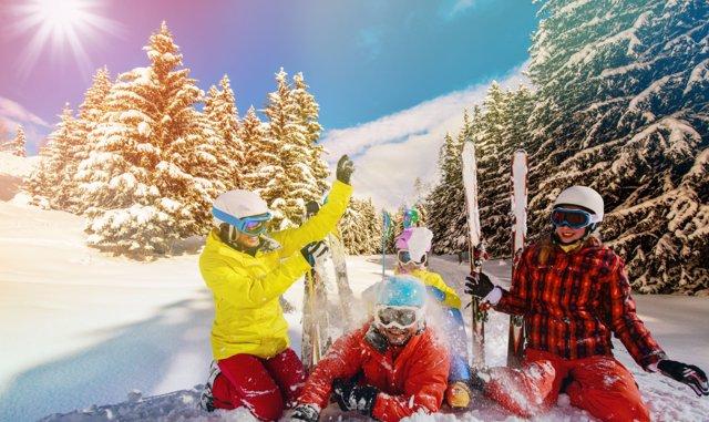 Diversión nieve familia Grandvaliara