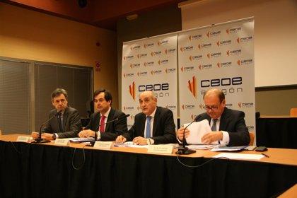 La economía aragonesa crecerá un 3,1% en 2016 y un 2,4% en 2017, señala la CEOE