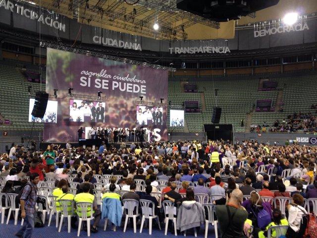 Asamblea de Podemos en Vistalegre