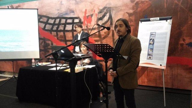 Nacho Escuín inaugura el ciclo de conferencias en el Teatro Principal.
