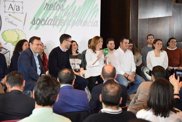 Acto de JSA en Málaga con Susana Díaz