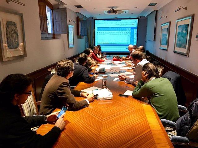 El alcalde de Murcia, José Ballesta, ha reunido a todos los concejales