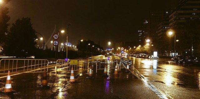 El túnel de El Saler, cerrado por las lluvias