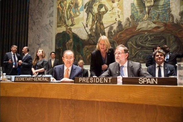 Mariano Rajoy y Ban Ki Moon