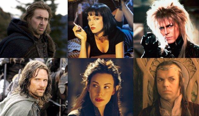Nicolas Cage, Uma Thurman, David Bowie, Aragorn, Arwen y Elron