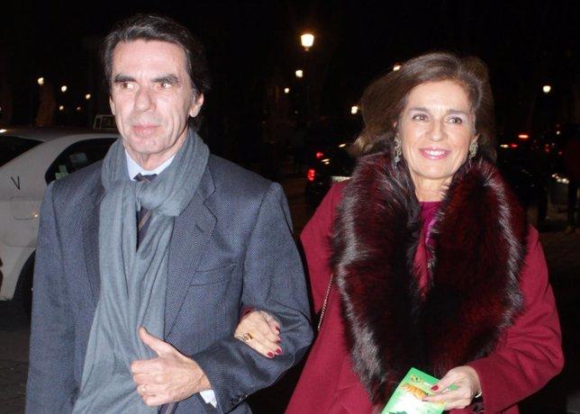 José María Aznar y Ana Botella/ Ignacio Cuenllas