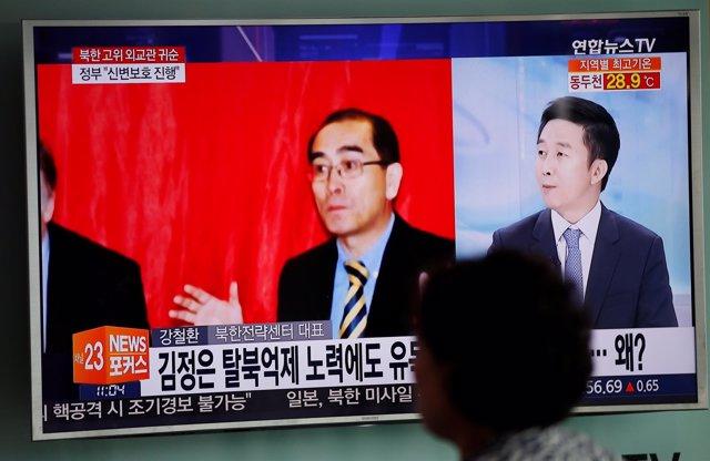 EL vice embajador de Corea del Norte en Reino Unido, Thae Yong Ho.